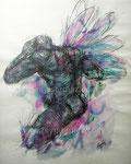 Dragonfly, 1998. Mischtechnik auf Papier, 60 x 50 cm