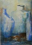 Aquarell - Stillleben, Flaschen