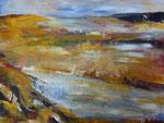 Landschaft 80x100 cm Acryl auf Leinwand