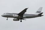 OY-KBO - Airbus A319-132 - SAS - Retro livery