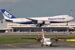 JA14KZ - Boeing 747-8KZ(F) - Nippon Cargo Airlines & OK-KFO - ATR 42-500 - Czech Airlines