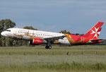 Airbus A320 Air Malta 9H-AEO Valletta livery