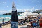 Arrivals surf table @ Maho Beach SXM