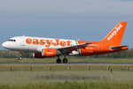 Airbus A319 Easyjet G-EZIW Linate Roma Livery