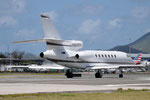 N827CT - Dassault Falcon 50 - private @ SXM