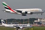 A6-EEF - Airbus A380-861 - Emirates & OH-LXF - Airbus A320-214 - Finnair