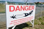 Danger alert @ Maho Beach SXM