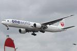 JA732J - Boeing 777-346(ER) - Japan Airlines - Oneworld livery