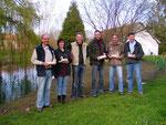Les stagiaires et leurs réalisations à l'issue du stage en baie de Somme