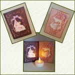 Leuchtkarte mit oder ohne Teelicht