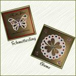 Schmetterling und Blumenkarte