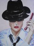 Frau mit Telefon / Oil on Canvas 40 cm x 50 cm