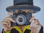 Frau mit Kamera / Oil on Canvas 40 cm x 50 cm