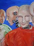 Dummies unter sich / Oil on canvas 60 cm x 50 cm