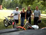 Von links nach rechts: Richard, Doris, Ich und Andi