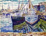 Boats At Dockside (Flatlands, Brooklyn, New York, USA) - 1938