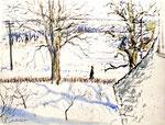 Winter, Uniondale, Long Island, New York, USA, ca. 1931