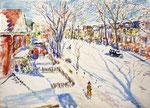 Snow Scene From My Window (Brooklyn, New York, USA) - 1941