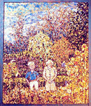 Mom & Pop In The Garden, Glass Mosaic