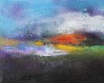 """Fabien Bruttin, """"La tête dans les nuages"""", 2014, 40x50 cm (15.7x19.7 in), technique mixte sur MDF"""