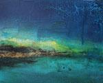 Fabien Bruttin, Zao vert, 2016-17, 40x50 cm (15.7x19.7 in), technique mixte sur MDF