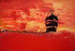 """Fabien Bruttin, """"Pirate Ship"""", 2013, 70x100 cm (27.5x39.4 in), technique mixte sur MDF"""