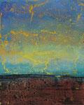 Fabien Bruttin, Horizon I, 2015, 40x50 cm (15.7x19.7 in), technique mixte sur MDF