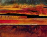 """Fabien Bruttin, """"Paysage lunaire"""", 2012, 80x100 cm (31.5x39.4 in), technique mixte sur MDF"""