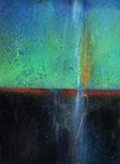 """Fabien Bruttin, """"Lightning in the depths"""", 2013, 40x50 cm (15.7x19.7 in), technique mixte sur MDF"""