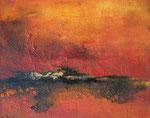 Fabien Bruttin, Untitled (red), 2013, 40x50 cm (15.7x19.7 in), technique mixte sur MDF