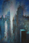 "Fabien Bruttin, ""New York 7"", 2011, 70x100 cm (27.5x39.4 in), technique mixte sur MDF"
