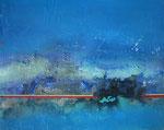 Fabien Bruttin, Untitled (blue), 2013, 40x50 cm (15.7x19.7 in), technique mixte sur MDF