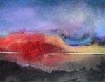 """Fabien Bruttin, """"Explosion vermillon !"""", 2014, 40x50 cm (15.7x19.7 in), technique mixte sur MDF"""