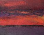 """Fabien Bruttin, """"Paysage violet"""", 2012, 40x50 cm (15.7x19.7 in), technique mixte sur MDF"""