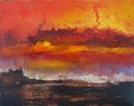 Fabien Bruttin, The day is not over, 2015, 40x50 cm (15.7x19.7 in), technique mixte sur MDF