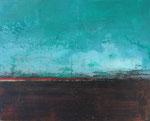 Fabien Bruttin, Horizon II, 2015, 40x50 cm (15.7x19.7 in), technique mixte sur MDF