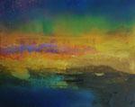 "Fabien Bruttin, ""Lost Island"", 2013, 40x50 cm (15.7x19.7 in), technique mixte sur MDF"