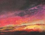 Fabien Bruttin, Le déploiement du ciel, 2016, 40x50 cm (15.7x19.7 in), technique mixte sur MDF