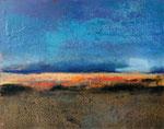 Fabien Bruttin, Untitled (vague), 2015, 40x50 cm (15.7x19.7 in), technique mixte sur MDF