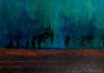 """Fabien Bruttin, """"Dans l'attente"""", 2012, 70x100 cm (27.5x39.4 in), technique mixte sur MDF"""