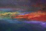 Fabien Bruttin, Sunset, 2017, 70x100 cm, technique mixte sur MDF