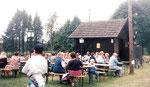 Stationsfest bei der Bahnstation Aalfang. Findet jährlich im Mai statt
