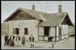 Historisches Foto der Bahnstation - jetzt unser Vereinslokal