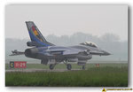 Arrivée à l'embranchement de la piste du F-16 AM du Solo Display Belge