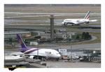 Airbus A380 Thaï Airways et Airbus A380 Air France décoration 80 ans AF