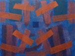 o.T., 2020 - VI, Acryl auf Jute, 75 x 100 cm