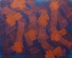 o.T., 2018 - VI, Acryl auf Jute, 80 x 100 cm
