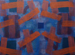 o.T., 2020 - VIII, Acryl auf Jute, 75 x 100 cm
