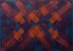 o.T., 2017 - XVIII, Acryl auf Jute, 70 x 100 cm