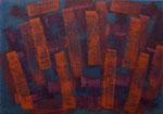 o.T., 2017 - XIII, Acryl auf Jute, 70 x 100 cm